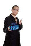 Young man giving a present Royalty Free Stock Photo