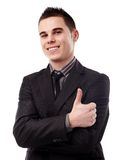 Young man giving thumb up Stock Photography
