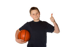Young man giving a thumbs up Royalty Free Stock Image