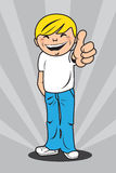 Young man giving thumbs up Royalty Free Stock Images