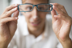 Young man with glasess Royalty Free Stock Photos