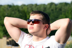 Young man with glasses Royalty Free Stock Photo