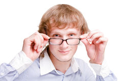 Young man in glasses Royalty Free Stock Photography