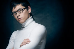Young man in glasses Royalty Free Stock Image