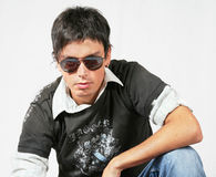 Young man with glasses Royalty Free Stock Images