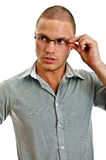 Young man with glasses. Stock Photo
