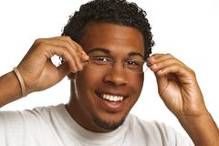 Young man with glasses stock photography