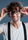 Young man with glasses Royalty Free Stock Image