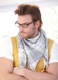 Young man in glasses looking away Royalty Free Stock Photography