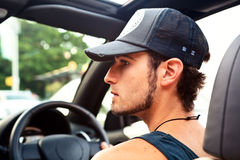 Young Man On The Go Stock Photo