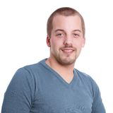 Young man with goatee. Smiling young man with goatee beard Stock Photo