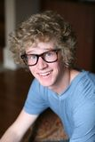 Young man with goofy glasses Royalty Free Stock Photography