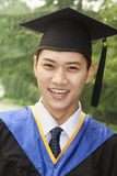 Young Man Graduating From University, Close-Up Portrait Royalty Free Stock Image