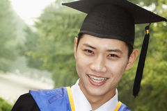 Young Man Graduating From University, Close-Up Portrait Royalty Free Stock Photo