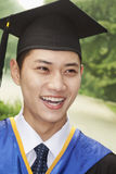 Young Man Graduating From University, Close-Up Portrait Stock Images