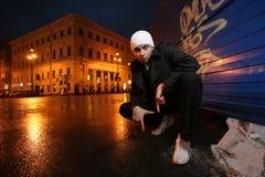 Young man graffiti royalty free stock photos