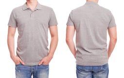 Young man with gray polo shirt Stock Photos