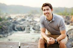 Young man at Great Falls Park Stock Photos