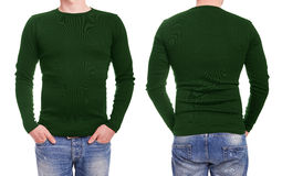 Young man with green t shirt Royalty Free Stock Images