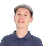 Young man in grey hat Royalty Free Stock Image