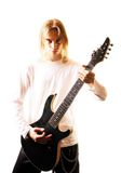 Young man with a guitar Royalty Free Stock Images