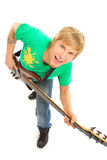 Young man with guitar Royalty Free Stock Photography