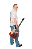 Young man with guitar Stock Photography