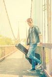 Young man guitar player Stock Photography