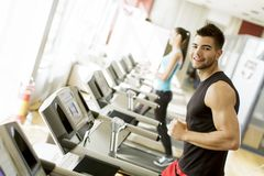 Young man in the gym Stock Photos