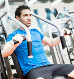 Young man in the gym Stock Photography
