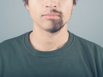 Young man with half shaved beard Royalty Free Stock Photos