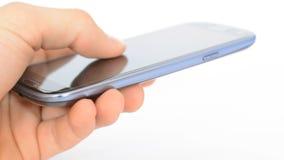 Man hand using smart phone stock video footage