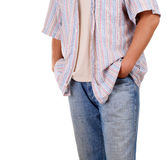 Young man with hand in pocket Royalty Free Stock Images