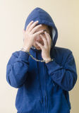 Young Man in Handcuffs Stock Image