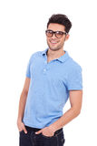 Young man with hands in pockets Royalty Free Stock Photo