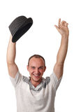 A young man with the hat . Royalty Free Stock Photos