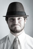 Young man in hat royalty free stock photos