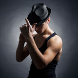 Young man in the hat Stock Image