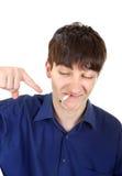 Young Man hates smoking Royalty Free Stock Photo