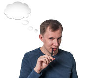 Young  man having a good idea Stock Images