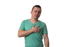 Young Man Having A Heart Attack Royalty Free Stock Image