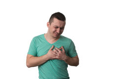 Young Man Having A Heart Attack Royalty Free Stock Images