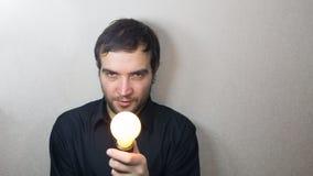 Young Man Having an Idea. Stock Photo
