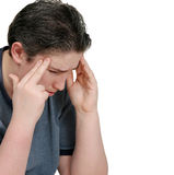 Young Man With a Headache Stock Images