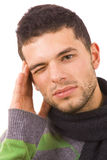 Young man with a headache Royalty Free Stock Images