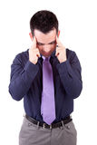 Young man with headache Royalty Free Stock Images