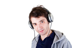 Young man headphones Royalty Free Stock Photo
