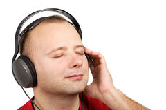 Young man in headphones Royalty Free Stock Image