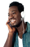 Young man with headphones Royalty Free Stock Images