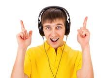 Young Man in Headphones Stock Photos
